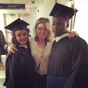 Amy Carrier and 2 graduating students
